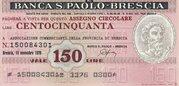 150 (Banca S. Paolo - Brescia) – obverse