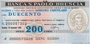 200  (Banca S. Paolo - Brescia) – obverse