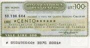100 Lire (Banca Cattolica Del Veneto) – obverse