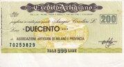 200 Lire (Credito Artigiano) – obverse