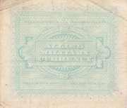 10 Lire (Allied Military Currency) – reverse