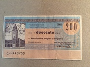 200 Lire (Banca Popolare di Bergamo) – obverse
