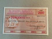 200 Lire (Banca di Credito Agrario Bresciano) – obverse