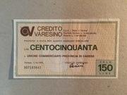 150 Lire (Credito Varesino) – obverse