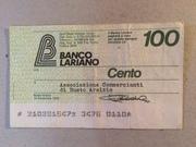 100 Lire (Banco Lariano) – obverse