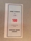100 Lire (Associazione Novarese Esercenti) – reverse