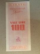 100 Lire (Banco di Chiavari) – reverse