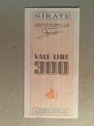300 Lire (Banco di Chiavari) – reverse