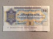 50 Lire (Istituto Bancario Italiano) – obverse