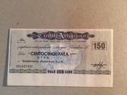 150 Lire (Credito Artigiano) – obverse