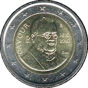 2 Euro (Count of Cavour) -  obverse
