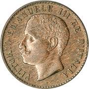 1 Centesimo - Vittorio Emanuele III – obverse