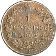 1 Centesimo - Vittorio Emanuele III – reverse