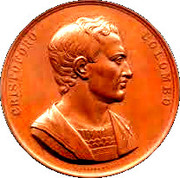 Medal - 8th congress of Italian scientists in Genova (Cristoforo Colombo) – obverse