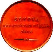 Medal - 8th congress of Italian scientists in Genova (Cristoforo Colombo) – reverse