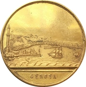 Medal - Giovan Battista Perasso 100 years of Liberation from Austria – reverse