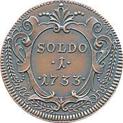 1 Soldo  - Gorizia 1733 (Restrike) – obverse