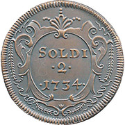 2 Soldi  - Gorizia 1734 (Restrike) – obverse