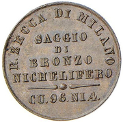 Saggio - Di Bronzo Nichelifero – reverse