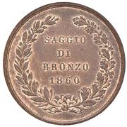 Saggio - Di Bronzo 1860 – reverse