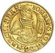 1 Ducat - Johann Georg von Brandenburg Ansbach – obverse