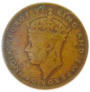 ½ Penny - George VI -  obverse
