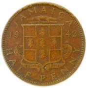 ½ Penny - George VI -  reverse