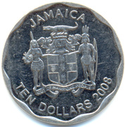 10 Dollars - Elizabeth II (round) – obverse