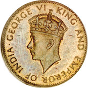 ½ Penny - George VI (With KING AND EMPEROR; small head) – reverse