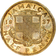 ½ Penny - George VI (With KING AND EMPEROR; small head) – obverse