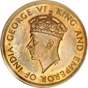 1 Penny - George VI (With KING AND EMPEROR; small head) – reverse