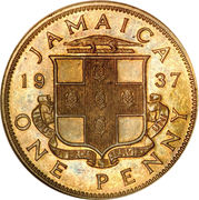 1 Penny - George VI (With KING AND EMPEROR; small head) – obverse