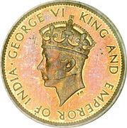 1 Farthing - George VI – obverse