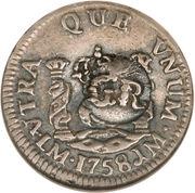 5 Pence - George II (FRD VI D G HISP ET IND R; Lima mint) – reverse