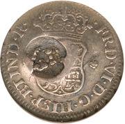 5 Pence - George II (FRD VI D G HISP ET IND R; Lima mint) – obverse