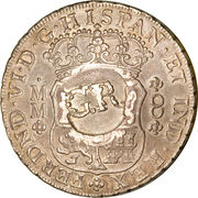 6 Shillings 8 Pence (Countermarked Coinage) – obverse