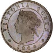 ½ Penny - Victoria (Piedfort) – reverse