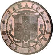 ½ Penny - Victoria (Piedfort) – obverse