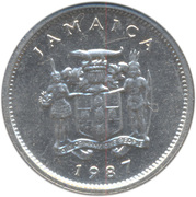 5 Cents - Elizabeth II (wide legend letters; non-magnetic) – obverse
