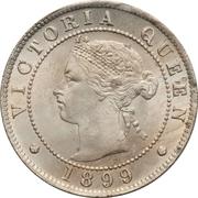 ½ Penny - Victoria – obverse