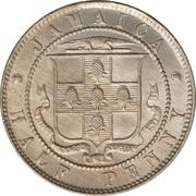 ½ Penny - Victoria – reverse