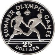 25 Dollars - Elizabeth II (Relay Runners) – reverse