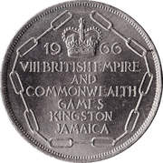 5 Shillings (VIII Commonwealth Games) – reverse