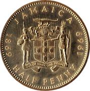 ½ Penny - Elizabeth II (Coinage Centennial) – obverse