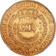 5 Pounds - George II (PHILIP V D G HISPAN ET IND REX) – reverse