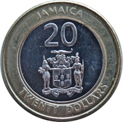 20 Dollars - Marcus Garvey (non-magnetic) -  obverse