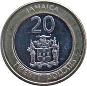 20 Dollars - Elizabeth II (non-magnetic) -  obverse