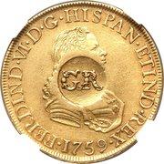 5 Pounds - George II (FERDIND VI D G HISPAN ET IND REX) -  obverse