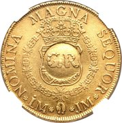 5 Pounds - George II (FERDIND VI D G HISPAN ET IND REX) -  reverse