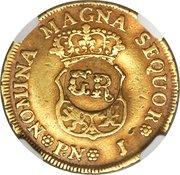 1 Pound 5 Shillings - George II (Popayan mint) – reverse